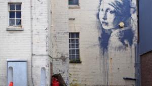 La nouvelle oeuvre de Banksy réaliée le 10 octobre 2014 à Bristol.