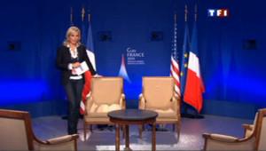 Exclusif : Laurence Ferrari depuis le plateau de l'interview Obama-Sarkozy