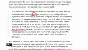 """Les internautes militent pour que """"Le Journal d'Anne Frank"""" soit dans le domaine public"""