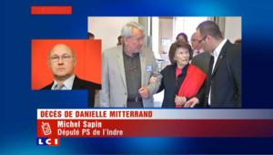 "Danielle Mitterrand ""profondément engagée à gauche"""