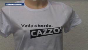 """""""Vada a bordo!"""", le t-shirt adressé au commandant du Costa Condordia"""