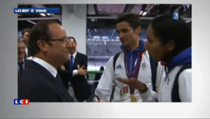 La gaffe de Hollande à un athlète malvoyante