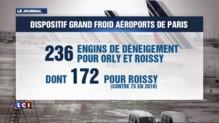 Les aéroports parisiens se préparent à l'éventuelle arrivée de la neige