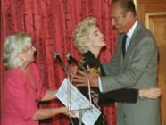Line Renaud, Madonna et Jacques Chirac à la mairie de Paris le 28 août 1987