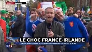 """Rugby : à un peu plus d'une heure de France-Irlande, """"une ambiance bon enfant"""" dans les rues de Cardiff"""