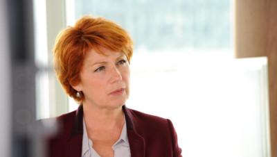 Véronique Genest dans le dernier épisode de la série Julie Lescaut