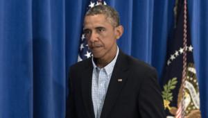 Barack Obama le 14 août 2014 lors d'une conférence de presse