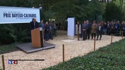 Charlie-Hebdo : une stèle en hommage aux victimes dévoilée à Bayeux
