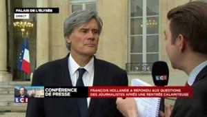 """Le Foll : """"L'objet de cette conférence de presse était de rappeler l'engagement"""" d'Hollande"""