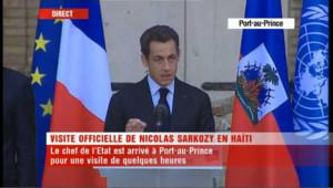 """Sarkozy : """"Aux Haïtiens de définir un véritable projet national"""""""