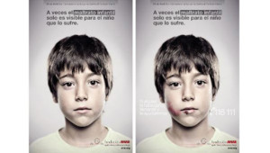 Une affiche publiée par une association espagnole de lutte contre les violences faites aux enfants.