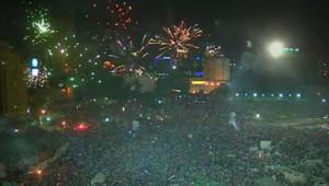 La Place Tahrir en fête, le 3 juillet 2013, après la destitution par l'armée de Mohamed Morsi.