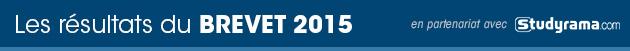 Les résultats du Brevet 2015 - en partenariat avec Studyrama