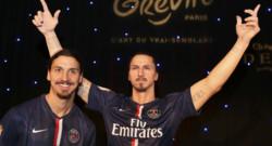 Zlatan Ibrahimovic à l'inauguration de sa statue de cire le 9 février 2015 au musée Grévin.