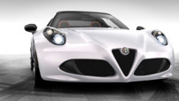 Alfa Romeo 4C Spider, concept-car préfigurant la prochaine version de série, exposée pour le Salon de GEnève 2014 2014