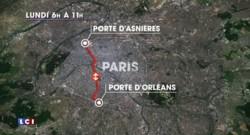 COP21 : une partie du périphérique complètement vide