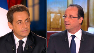 Nicolas Sarkozy et Fran&ccedil;ois Hollande