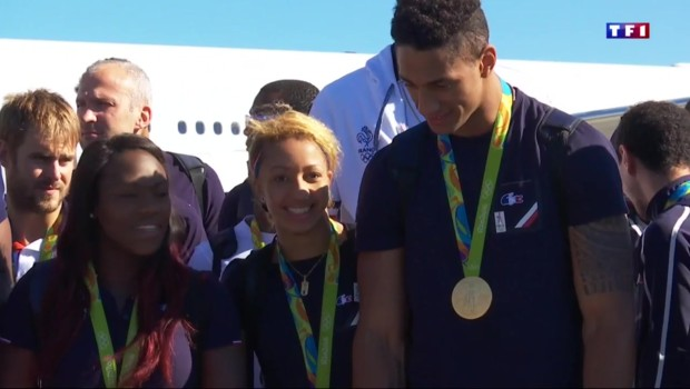 Retour en France pour les athlètes olympiques