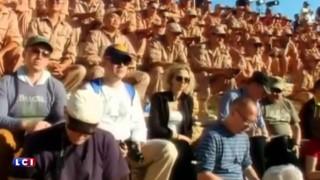 Un orchestre russe joue dans l'amphithéâtre de la cité antique de Palmyre