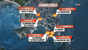 Le 20 heures du 19 juin 2013 : Incendies �armor baden : un suspect mis en examen - 1007.12