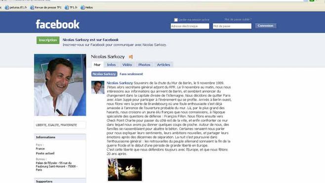 Le message de Nicolas Sarkozy sur Facebook concernant ses souvenirs du Mur de Berlin
