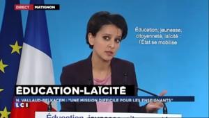Najat Vallaud-Belkacem rend hommage à la communauté éducative