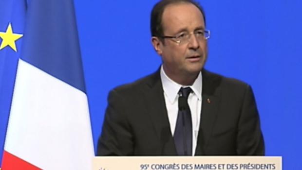 François Hollande au congrès des maires le 20 novembre 2012
