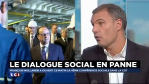 """Conférence sociale : """"Le discours de François Hollande a permis de ne pas parler du boycott de la CGT"""""""