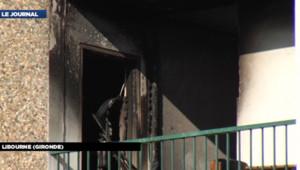 Le balcon de l'appartement détruit par un incendie à Libourne (Gironde) le 27 mai 2012.