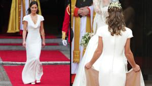 Pippa Middleton le jour du mariage de sa soeur Kate, le 29 avril 2011 à Londres.