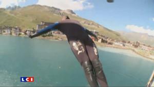 Plongeons extrêmes dans le lac de Tignes : les images