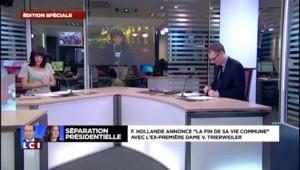 François Hollande officialise sa séparation avec Valérie Trierweiler