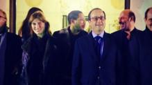 Joey Starr à l'Elysée avec François Hollande le 22 décembre 2014