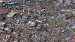 Philippines : les images aériennes du port de Tacloban, soufflée par le typhon