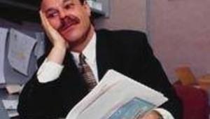 placard placardisé homme ennui travail