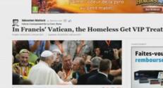 Le pape François accueille des sans-abris à la Chapelle Sixtine