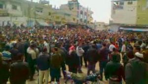 Syrie : manifestation à Deraa, 8 avril 2011