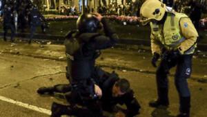 Des heurts à Madrid le 22 mars 2014