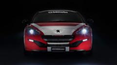 Peugeot RCZ R Bimota, véhicule unique de 304 chevaux exposé au Salon automobile de Vérone (Italie) en janvier 2015
