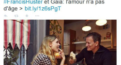 Francis Huster et Gaia Weiss ont pris la pose pour Paris Match et joué la comédie du couple parfait. Mais l'article a suscité la polémique.
