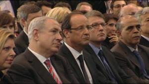 François Hollande et Benjamin Netanyahu à Toulouse