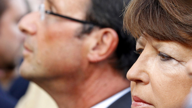 Franois Hollande et Martine Aubry/Image d&#039;archives