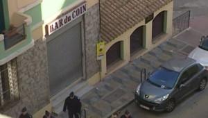 L'endroit où a été tué le préfet Erignac en 1998 en Corse