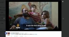 Migrants : un père porte sa fille sur ses épaules en vendant des stylos, la Toile se mobilise