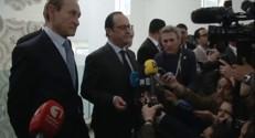 """Tunisie : """"Mon rôle était de venir"""" à cette marche déclare François Hollande"""