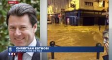 """Imtempéries : """"Un désastre"""" pour Estrosi"""