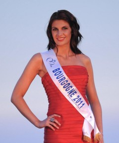 Miss Bourgogne 2011 - Elodie Paillardin - Candidate Election Miss France 2012