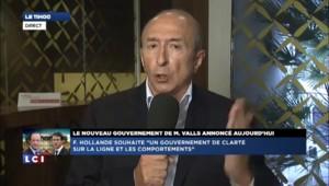 """Gérard Collomb : """"L'ensemble du gouvernement ne peut qu'être sur la ligne définie par Valls"""""""