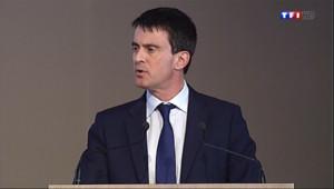 """Le 13 heures du 10 avril 2014 : Valls veut """"en finir avec ces caricatures des entreprises"""" - 316.6"""