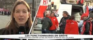 Mobilisation des fonctionnaires contre le gel d'indice des salaires à Paris